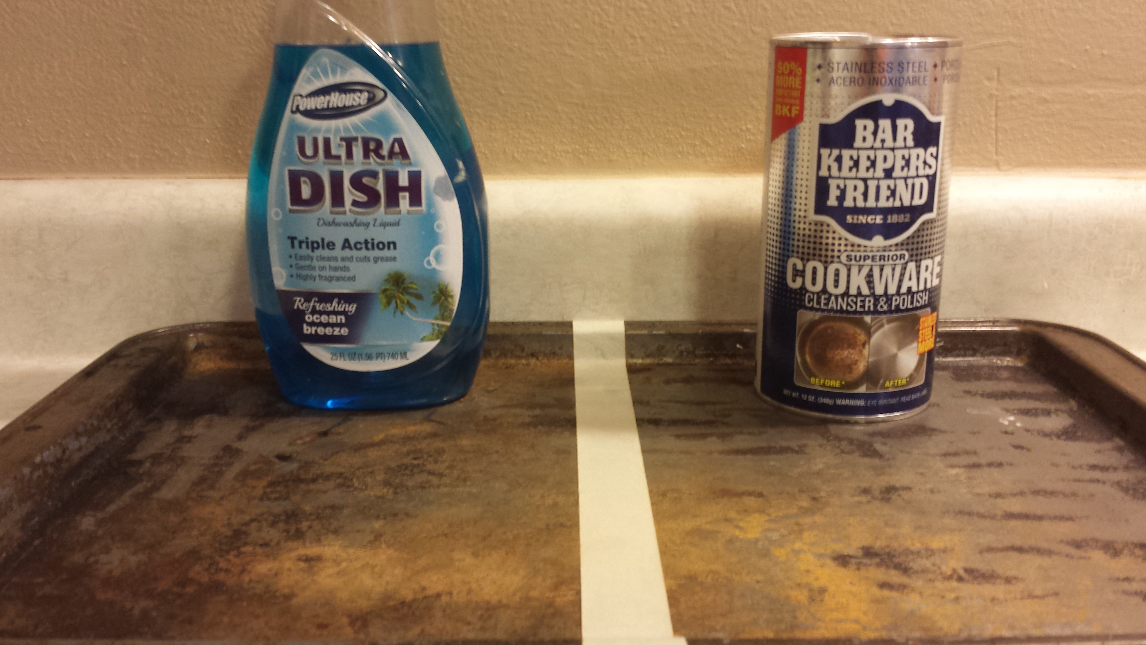 how to clean a cookie sheet bar keepers friend is amazing. Black Bedroom Furniture Sets. Home Design Ideas