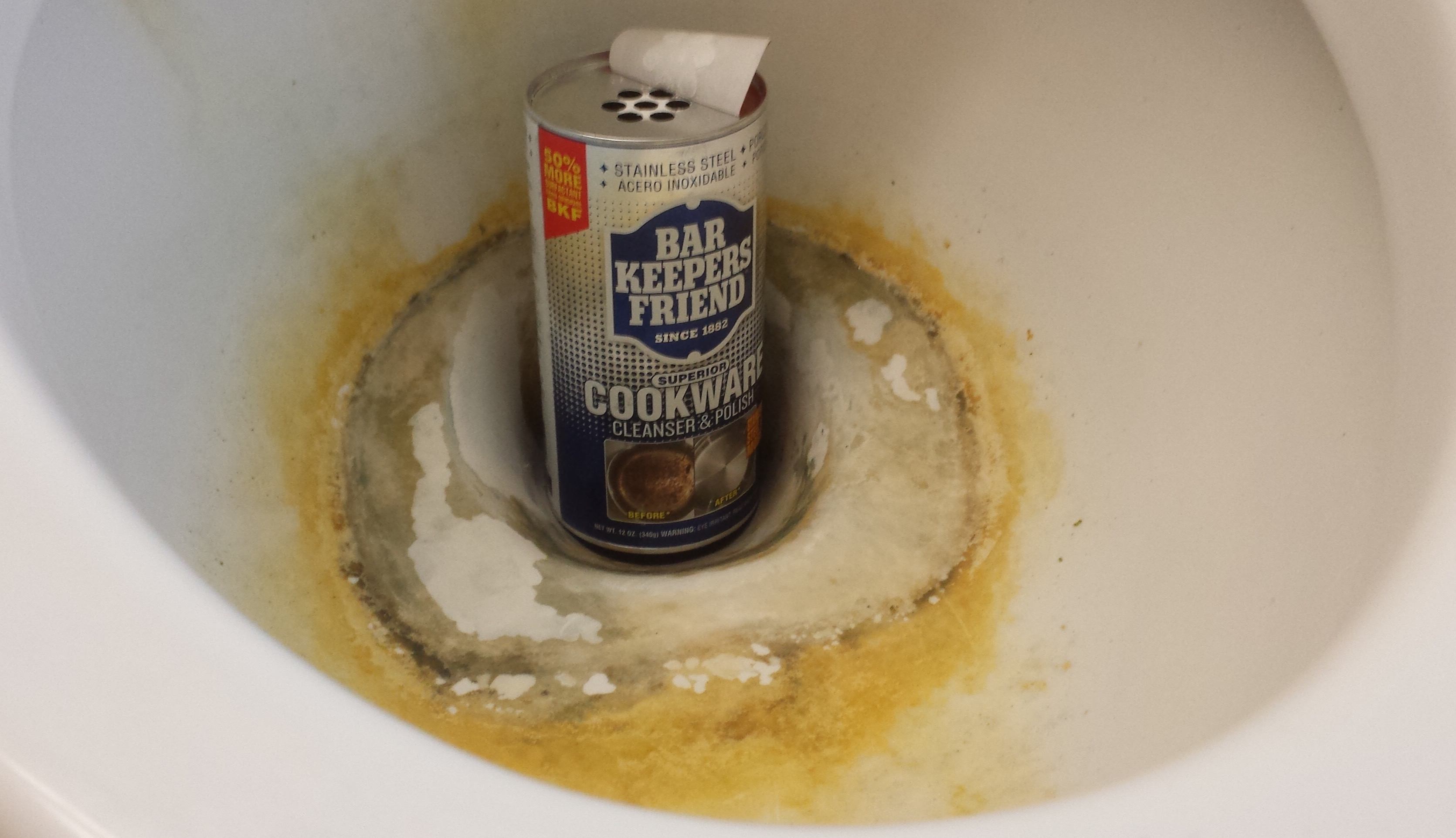 How To Clean Hard Water Stains And Rust From A Toilet Bowl